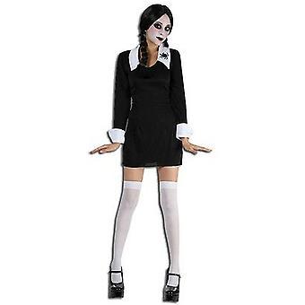 Läskiga skolflicka (Onsdag Addams).