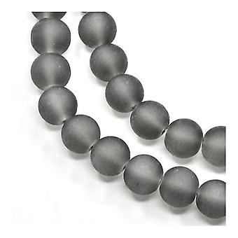 Filamento de 195 + cristal gris 4mm esmerilado llano redondo Y05240 de granos