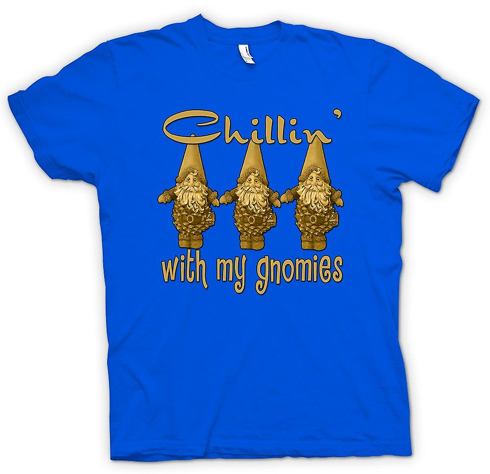 Heren T-shirt - Chillin met Gnomies - Funny
