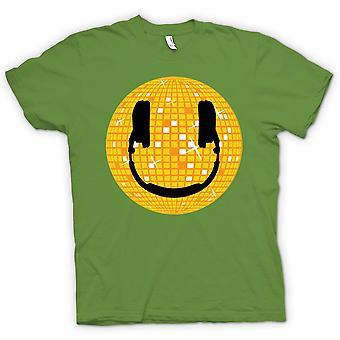 Womens T-shirt - Smiley Face - Disco Ball