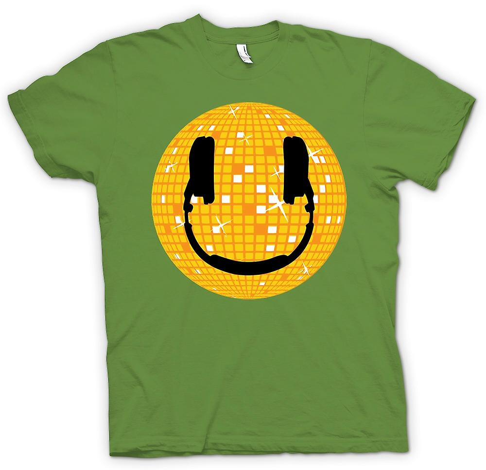 Mens T-shirt - Smiley Face - Disco Ball