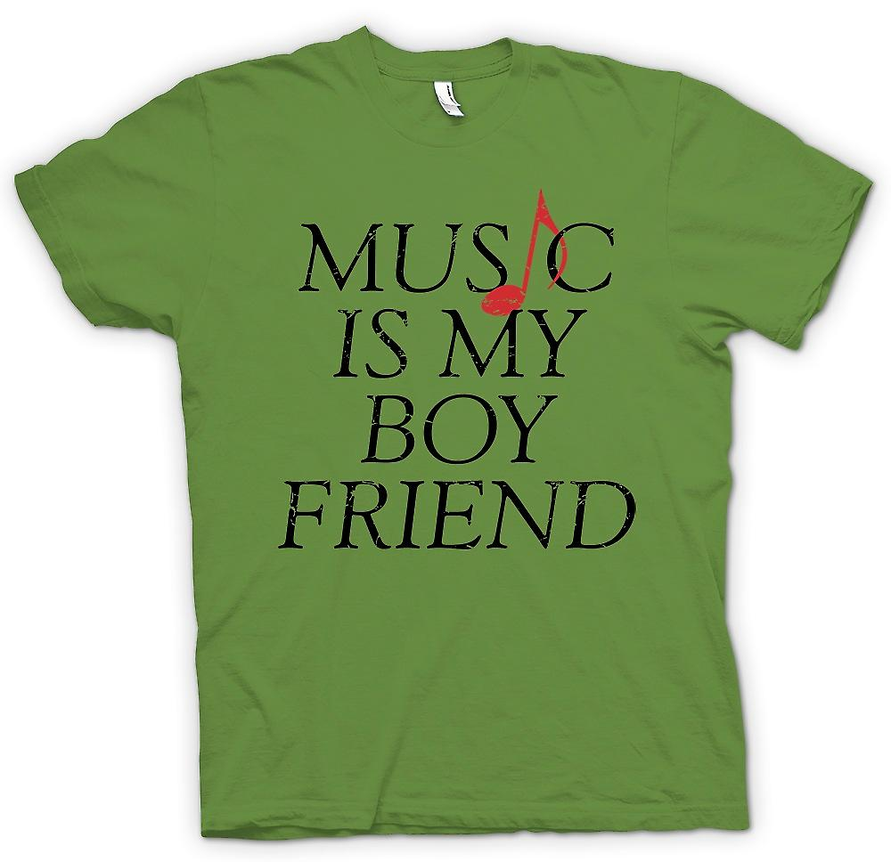 Mens T-shirt - Music Is My Boyfriend