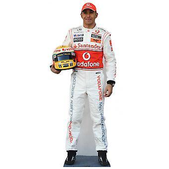 Lewis Hamilton Formel 1 (F1) Lifesize papp åpning / Standee