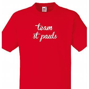 Team St pauls Red T shirt
