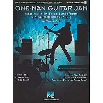 Ein-Mann-Guitar Jam: Wie Riffs, Basslinien und Rhythmus-Patterns für selbständige Begleitung beim Solo verwenden