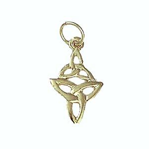 9ct Gold 16x11mm double Celtic Trinity knot Pendant