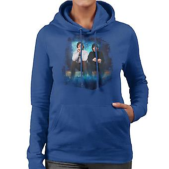 TV Times Mick Jagger And Keith Richards Of The Rolling Stones 1965 Women's Hooded Sweatshirt