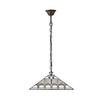 Misión medio estilo Tiffany una luz de techo colgante - interiores 70933 1900