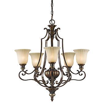 Kelham Hall fino cinque Lampadario - Elstead illuminazione Fe / Kelhall5 Light