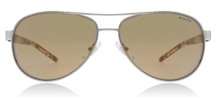 Ralph Lauren RA4004 9001R1 Silver RA4004 Pilot Sunglasses Lens Category 2 Lens Mirrored Size 59mm