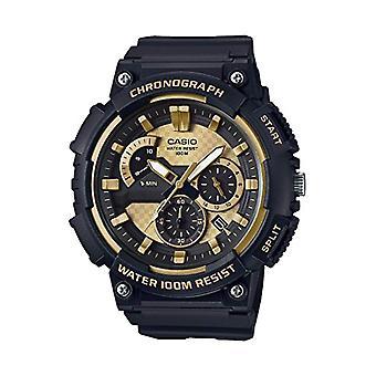CASIO watch chronograph quartz men with black resin strap MCW-200 h-9AVEF