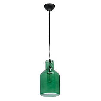 Glasberg - hängande enkel justerbar i svart med grön glasskärm 720010501