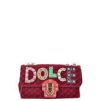 Dolce E Gabbana Burgund samt Umhängetasche
