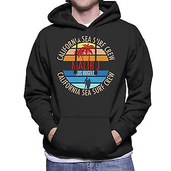 Malibu California Sea Surf Crew Men's Hooded Sweatshirt