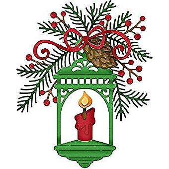 CottageCutz Lantern with Pine Boughs (CC-365)