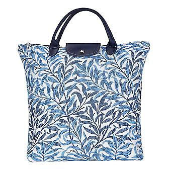 William morris - willow bough foldaway shopping bag by signare tapestry / fdaw-wiow