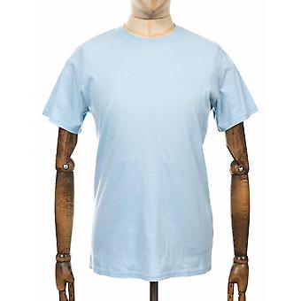 Edwin Jeans Chest Logo Tee - Cool Blue
