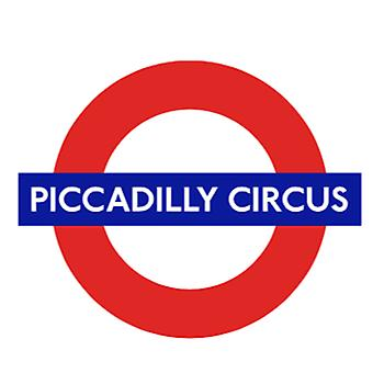 Tfl™5108 licensed piccadilly circus roundel™ vinyl sticker