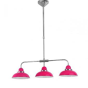 Premier Home Pendant Light, Chrome, Stainless Steel, Pink