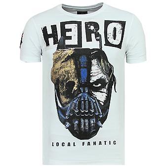 Hero Mask-Luxury T shirt men-6323W-White