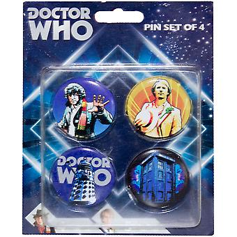 Doctor Who Retro Pinset of 4