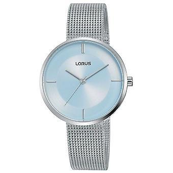 Lorus | Womens rostfrittstål mesh | Ljusblå urtavla | RG255QX9 klocka