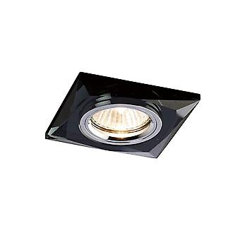Diyas Crystal Downlight Chamfered Square Rim Only Black, IL30800 Requis pour compléter l'article