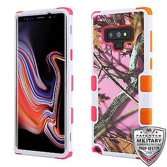 MYBAT Pink Oak-Hunting Camouflage Collection/Electric Pink and Orange TUFF Hybrid Protector Cover for Galaxy Note 9