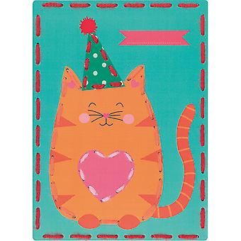 Kits 4 Kids Cat & Panda Embroidery Cards Kit-7.25