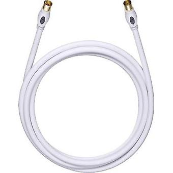 Antennas Cable [1x Belling-Lee/IEC plug 75Ω - 1x Belling-Lee/IEC socket 75Ω] 2.20 m 120 dB gold plated connectors White
