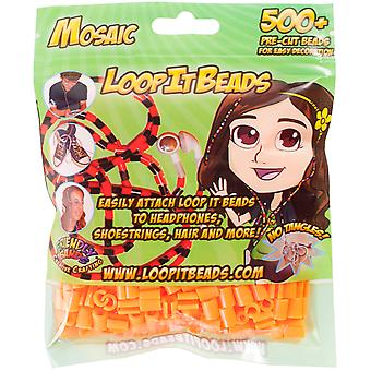 Friendly Bands Loop It Beads 500/Pkg-Tangerine FBLIB500-TAN
