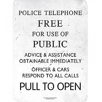 Dr Who Police Telephone Box Instructions small steel sign 210mm x 150mm (hb)