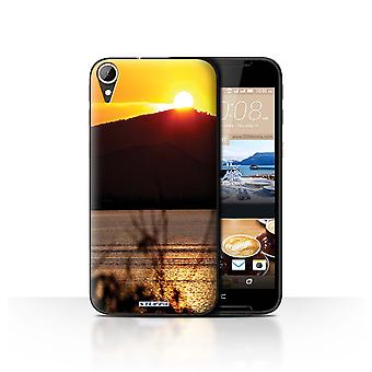 STUFF4 Case/Cover for HTC Desire 830/Mountain Top/Sunset Scenery