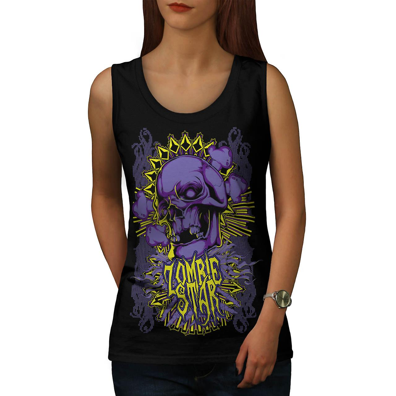 Monster-Zombie-Star-Devils-Zone Frauen Tank-Top schwarz | Wellcoda