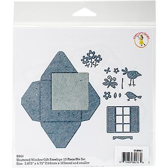 Cheery Lynn Designs Envelope Die-Shuttered Window Gift CLB861