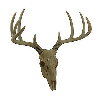 Weinig Bucky Wandmodellen Faux verouderde afwerking herten schedel en geweien 15 Inch
