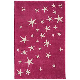 Børns piger Pink alle stjerner soveværelse tæppe