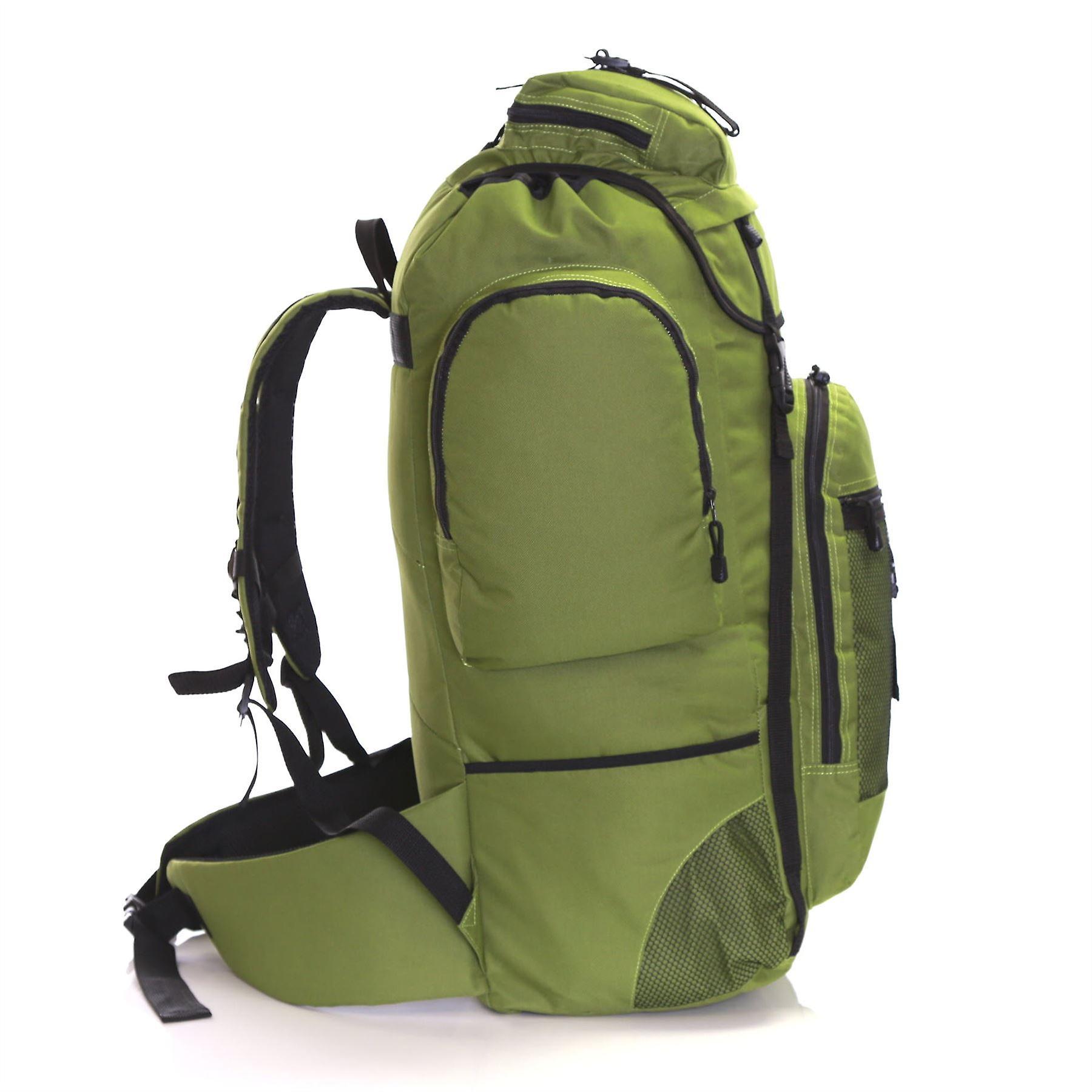 Slimbridge Knott 80 Litre XL Hiking Backpack, Khaki