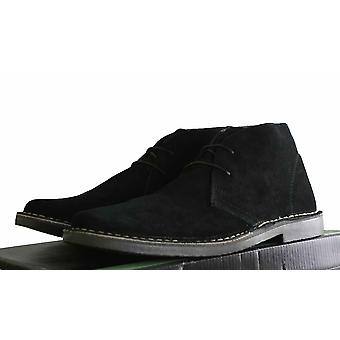 Roamers Real Suede Leather Mens Slim Slightly Rounded Toed Mod Desert Boots Size 6