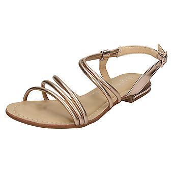 Ladies Savannah Flat Strappy Summer Sandals F0975