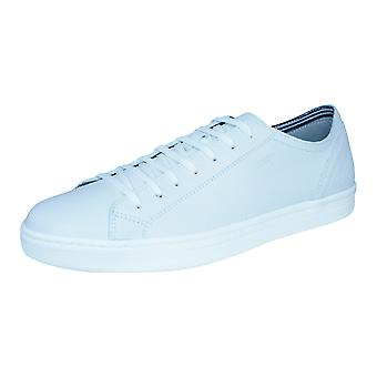 Geox U Ricky B Mens Leather Trainers / Shoes - White