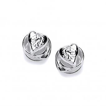 Cavendish French Heart in a Swirl Silver Earrings