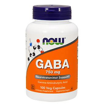 Now Gaba 750 mg 100 Cápsulas Vegetales