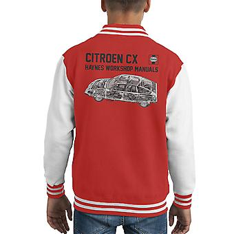 Haynes Workshop Manual 0528 Citroen CX Black Kid's Varsity Jacket
