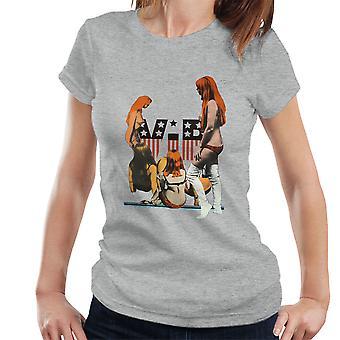 VIP-Flagge Unterwäsche rothaarige Mädchen Damen T-Shirt