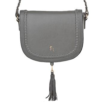 Ashwood Cross-body læder sadel taske - 61659 - skifer grå