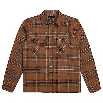Brixton Archie Flanell L/S T-Shirt Brown