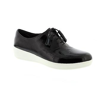 FitFlop Classic nappa Superoxford - nero Patent Leather Womens Shoes