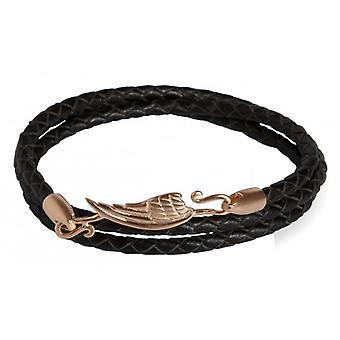 Simon Carter Wing Wrap armbånd - svart/Rose Gold