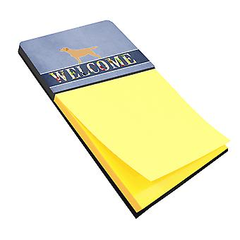 Yellow Labrador Retriever Welcome Sticky Note Holder